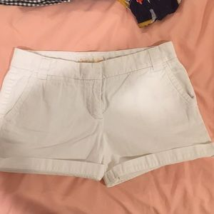 White J. Crew chino shorts. Size 6.